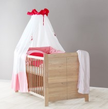Babybett Kinderbett Babyzimmer sonoma Eiche massiv, geölt