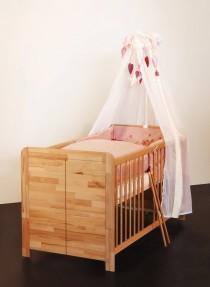 Babybett Kinderbett Babyzimmer kernbuche massiv, geölt