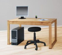 Schreibtisch Computertisch Esstisch 140x70cm, in Wildeiche massiv