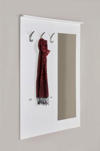 Garderobe mit Spiegel Flurgarderobe weiß seidenmatt