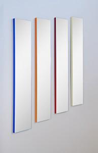 5128 - 4 Spiegel Wandspiegel Garderobenspiegel Set, verschiedene Farben, bunt