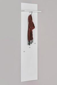 5136 - Garderobenpaneel weiß seidenmatt