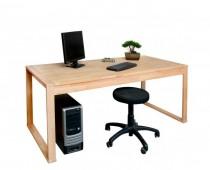 massiver Schreibtisch / Esstisch 180x80cm, in Kernbuche massiv
