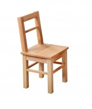Kinder- oder Beistellstuhl aus kernbuche massiv Holz