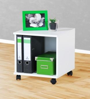 Rollcontainer Bürocontainer Nachtschrank weiß weiß