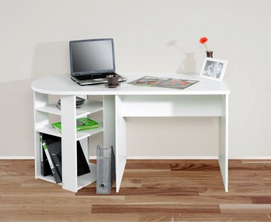 Schreibtisch mit gerundeter Tischplatte Kinderschreibtisch
