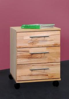 Rollcontainer Bürocontainer Schubcontainer kernbuche teil-massiv, geölt