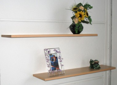 Wandboard Set, Bücherregal buche