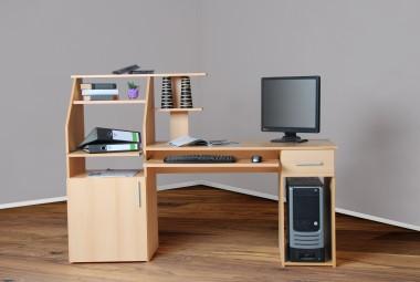 Bürotisch Computertisch Schreibtisch PC-Tisch buche buche
