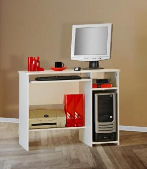 Schülerschreibtisch / Computertisch / PC-Tisch / mehrere Farben weiß