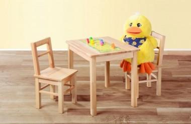 Kindersitzgruppe 3-tlg. aus kernbuche massiv Holz