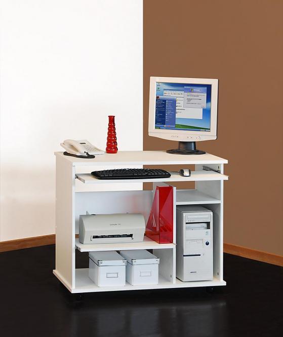 computertisch 1169 schreibtisch b rotisch pc tisch auf rollen mehrere farben ebay. Black Bedroom Furniture Sets. Home Design Ideas