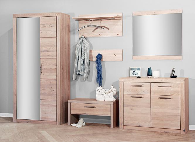 7154 garderobe in sonoma eiche s gerau teil massiv. Black Bedroom Furniture Sets. Home Design Ideas