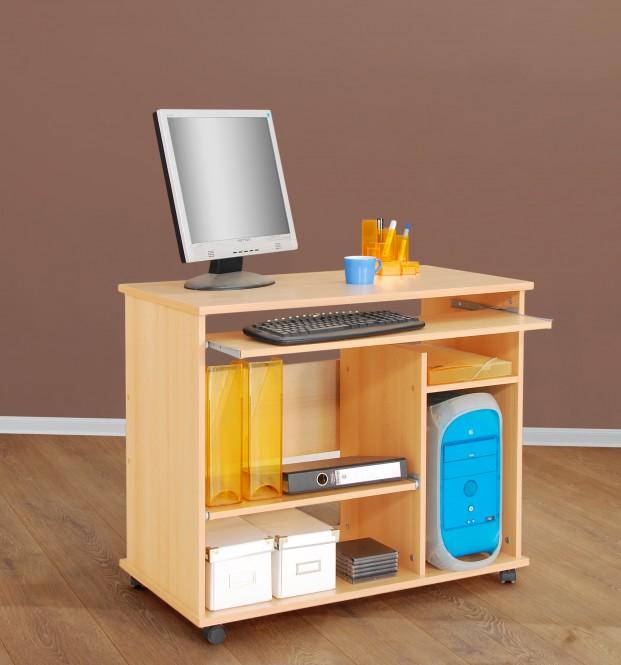computertisch schreibtisch pc tisch auf rollen. Black Bedroom Furniture Sets. Home Design Ideas