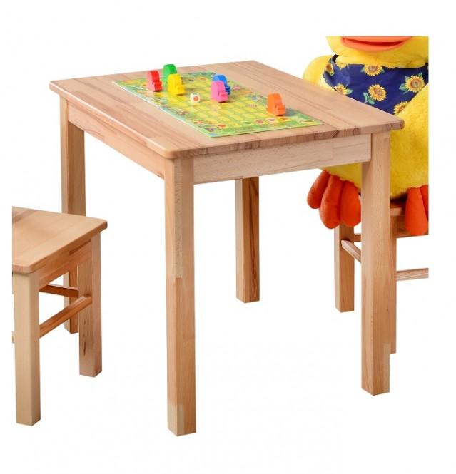 Kindertisch Beistelltisch kernbuche massiv geölt
