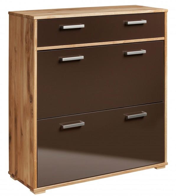 schuhschrank mara 5138 schuhkipper schrank wildeiche massiv schoko braun ebay. Black Bedroom Furniture Sets. Home Design Ideas