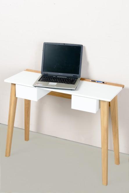 Schreibtisch Bürotisch PC Tisch Konsolentisch weiß