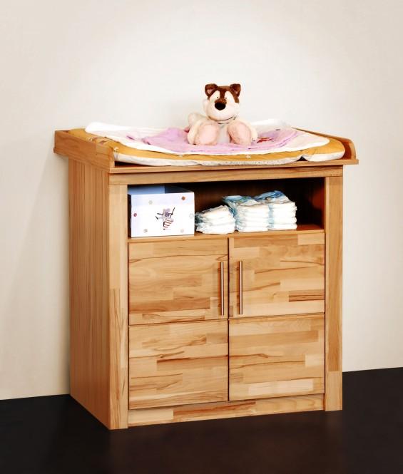 wickelkommode 91cm in kernbuche teil massiv ge lt m bel. Black Bedroom Furniture Sets. Home Design Ideas