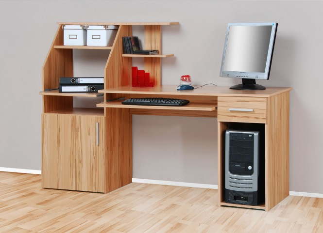 computertisch schreibtisch pc tisch kernbuche m bel. Black Bedroom Furniture Sets. Home Design Ideas