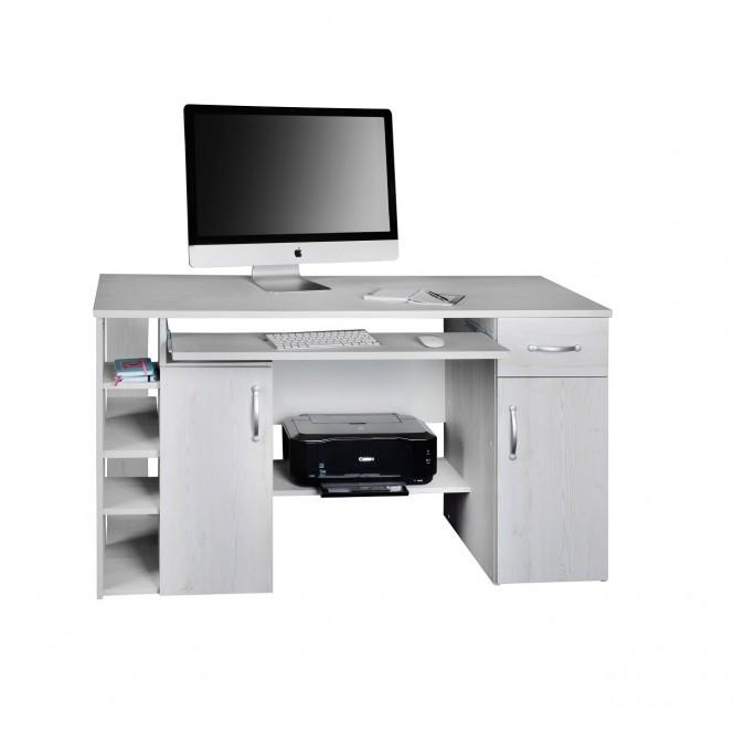 computertisch schreibtisch pc tisch mehrere farben eiche wei m bel. Black Bedroom Furniture Sets. Home Design Ideas