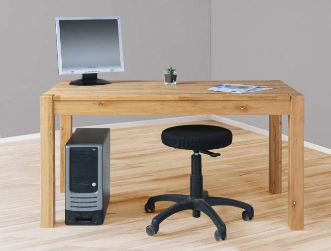 4512 - massiver massiver Schreibtisch Computertisch Esstisch in Wildeiche, geölt