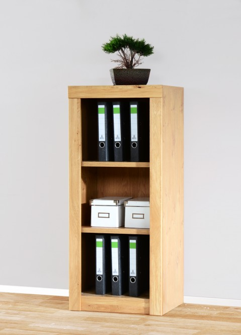 aktenregal b cherregal 52x120cm in wildeiche teilmassiv m bel. Black Bedroom Furniture Sets. Home Design Ideas