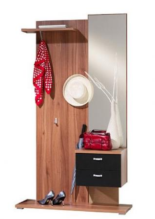 garderobe spiegelschrank walnuss schwarz m bel. Black Bedroom Furniture Sets. Home Design Ideas