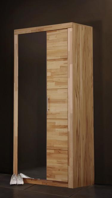 Garderobenschrank, in Kernbuche teil-massiv, geölt