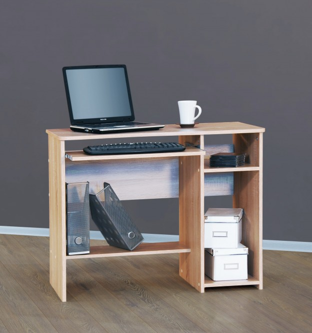 sch lerschreibtisch computertisch pc tisch mehrere farben sonoma eiche s gerau m bel. Black Bedroom Furniture Sets. Home Design Ideas