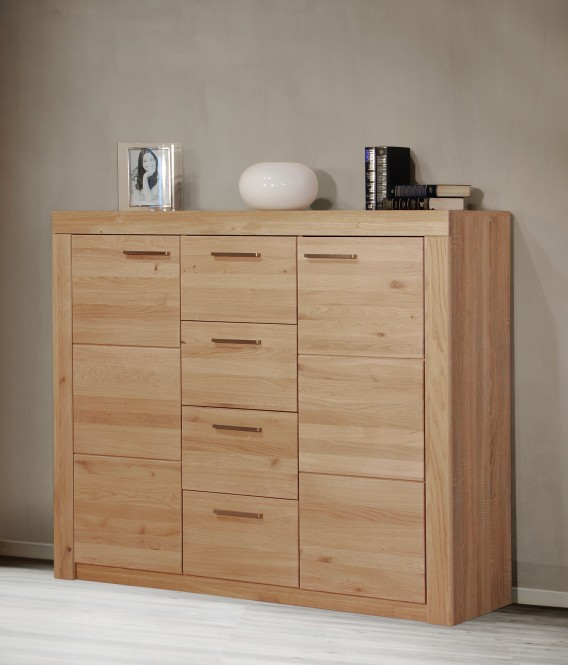 highboard in sonoma eiche teil massiv ge lt m bel. Black Bedroom Furniture Sets. Home Design Ideas