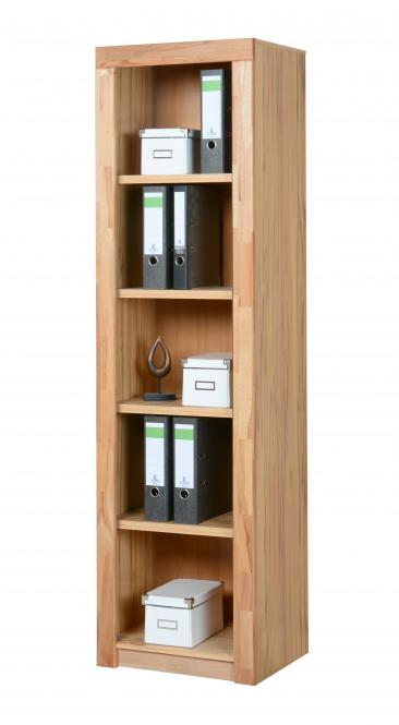 7150 aktenregal b cherregal 52x190cm in kernbuche teilmassiv m bel. Black Bedroom Furniture Sets. Home Design Ideas