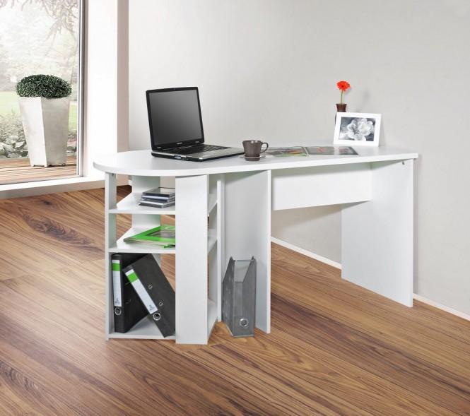 schreibtisch computertisch ron abgerundet wei schreibtisch ron pc tisch tisch computertisch. Black Bedroom Furniture Sets. Home Design Ideas
