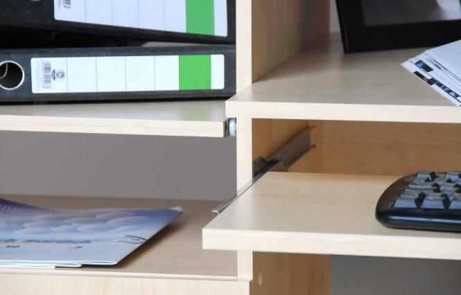Computertisch schreibtisch pc tisch ahorn m bel for Computertisch ahorn