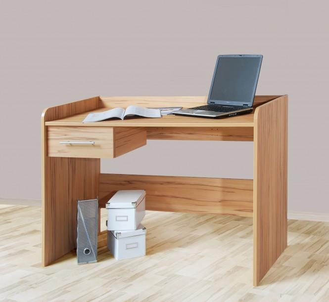 Schreibtisch computertisch h henverstellbar 116cm for Kernbuche computertisch