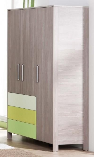 Geuther Kleiderschrank 3 Trg Babyzimmer Schrank Limocello Grau Grün