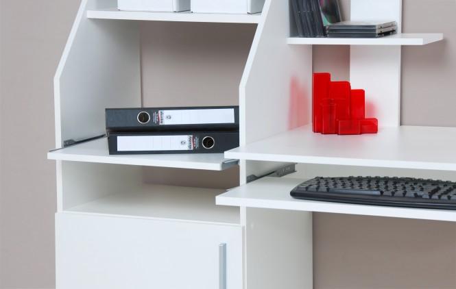 computertisch schreibtisch pc tisch wei m bel. Black Bedroom Furniture Sets. Home Design Ideas