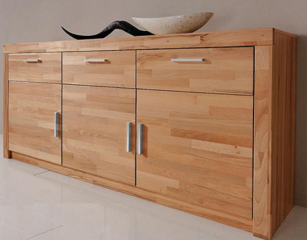 sideboard anrichte in kernbuche teil massiv ge lt. Black Bedroom Furniture Sets. Home Design Ideas