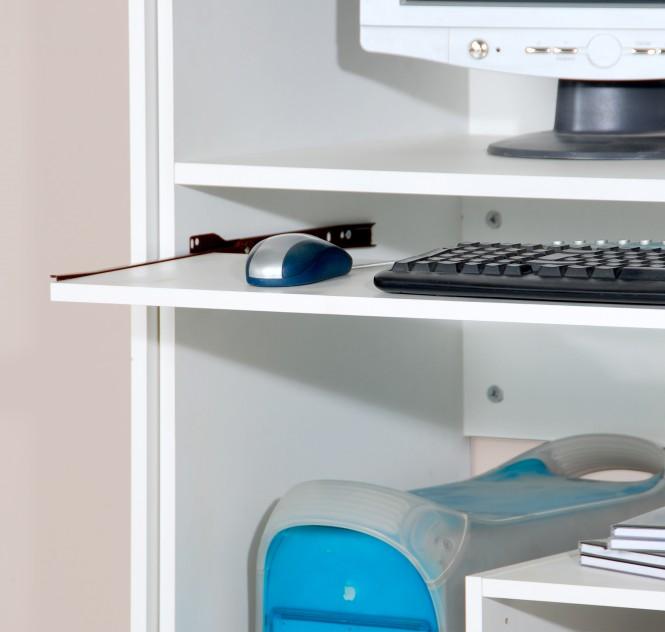 Computerschrank, in Weiß, 161cm Höhe   Möbel-Sofortkauf.de