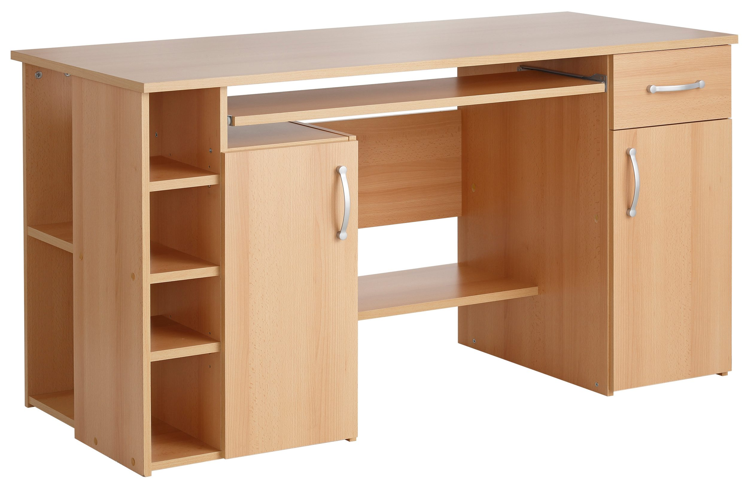 computertisch schreibtisch pc tisch mehrere farben. Black Bedroom Furniture Sets. Home Design Ideas